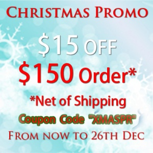 Christmas Special Sales $15 OFF $150 Order
